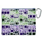 Block On Block, Purple Canvas Cosmetic Bag (XXL) Back