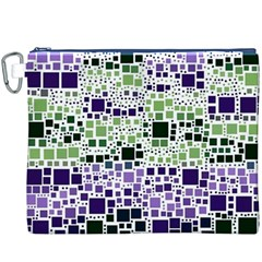 Block On Block, Purple Canvas Cosmetic Bag (XXXL)