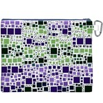 Block On Block, Purple Canvas Cosmetic Bag (XXXL) Back