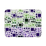 Block On Block, Purple Double Sided Flano Blanket (Mini)  35 x27 Blanket Back