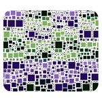 Block On Block, Purple Double Sided Flano Blanket (Small)  50 x40 Blanket Back