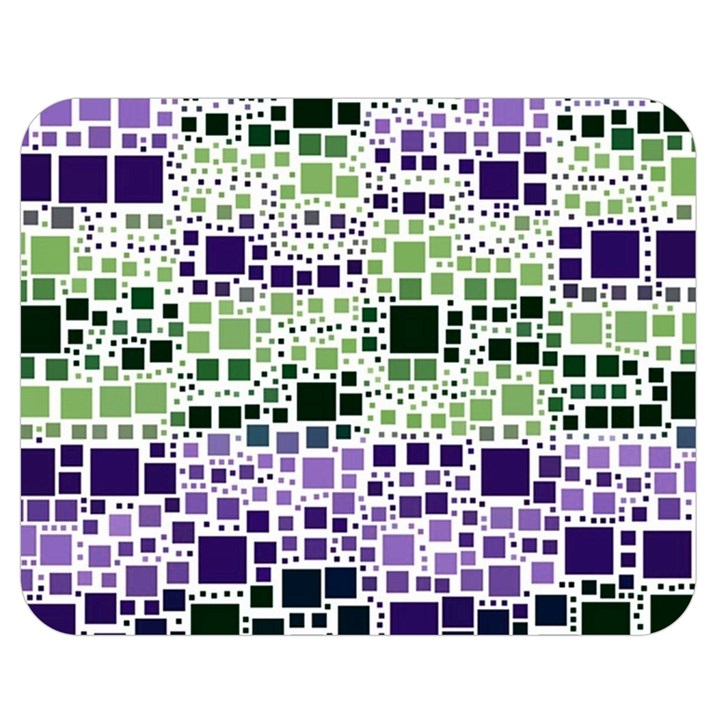 Block On Block, Purple Double Sided Flano Blanket (Medium)