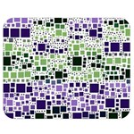 Block On Block, Purple Double Sided Flano Blanket (Medium)  60 x50 Blanket Back