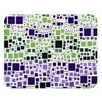 Block On Block, Purple Double Sided Flano Blanket (Large)  80 x60 Blanket Front