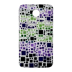 Block On Block, Purple Nexus 6 Case (White)