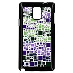 Block On Block, Purple Samsung Galaxy Note 4 Case (Black) Front
