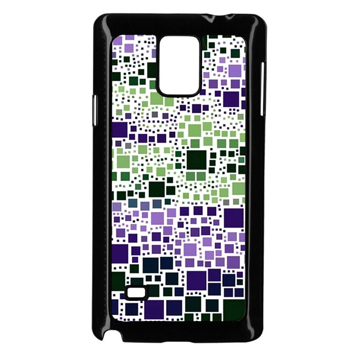 Block On Block, Purple Samsung Galaxy Note 4 Case (Black)