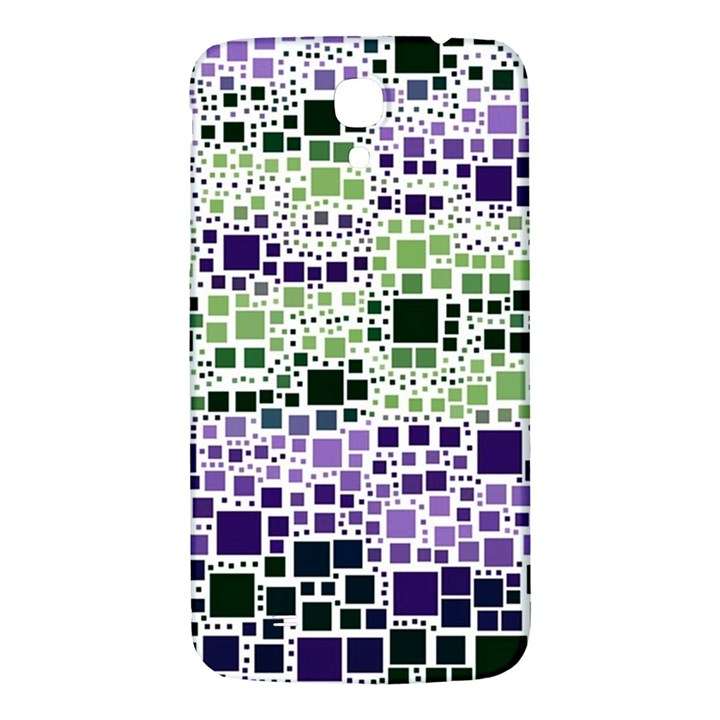 Block On Block, Purple Samsung Galaxy Mega I9200 Hardshell Back Case