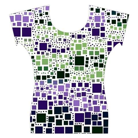 Block On Block, Purple Women s Cap Sleeve Top
