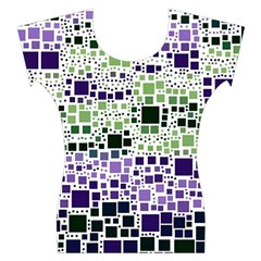 Block On Block, Purple Women s Cap Sleeve Top