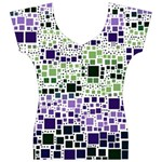 Block On Block, Purple Women s V-Neck Cap Sleeve Top Front