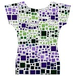 Block On Block, Purple Women s V-Neck Cap Sleeve Top Back