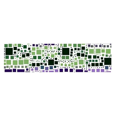 Block On Block, Purple Satin Scarf (Oblong)