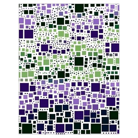 Block On Block, Purple Drawstring Bag (Large)