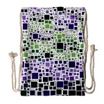 Block On Block, Purple Drawstring Bag (Large) Front