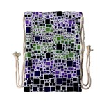 Block On Block, Purple Drawstring Bag (Small) Front