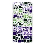 Block On Block, Purple Apple Seamless iPhone 6 Plus/6S Plus Case (Transparent) Front