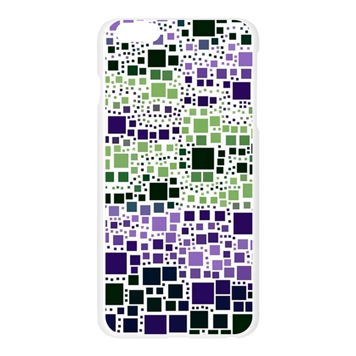 Block On Block, Purple Apple Seamless iPhone 6 Plus/6S Plus Case (Transparent)