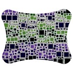 Block On Block, Purple Jigsaw Puzzle Photo Stand (Bow) Front