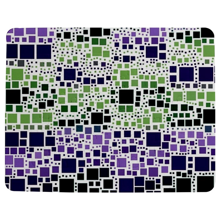 Block On Block, Purple Jigsaw Puzzle Photo Stand (Rectangular)