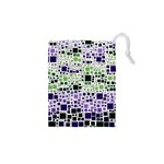 Block On Block, Purple Drawstring Pouches (XS)  Front