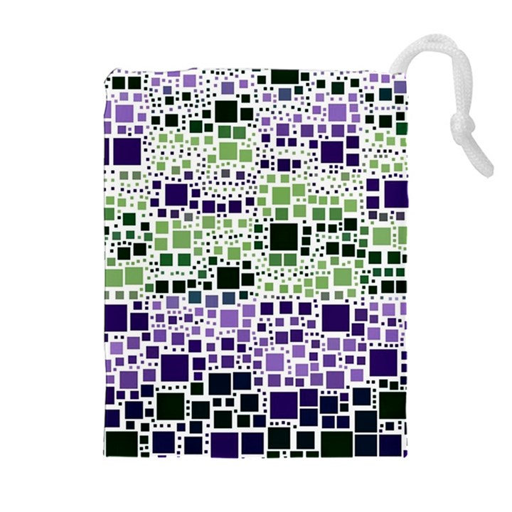 Block On Block, Purple Drawstring Pouches (Extra Large)