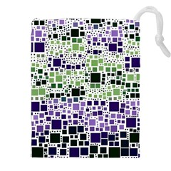 Block On Block, Purple Drawstring Pouches (XXL)