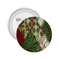 Christmas Quilt Background 2.25  Buttons