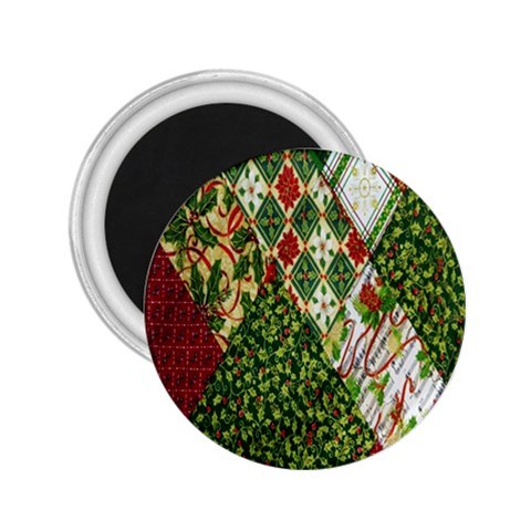 Christmas Quilt Background 2.25  Magnets