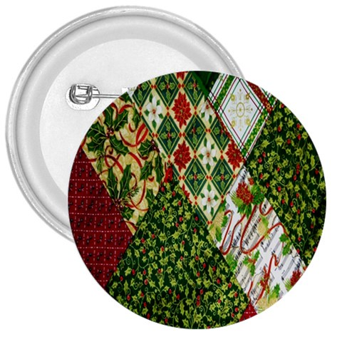 Christmas Quilt Background 3  Buttons