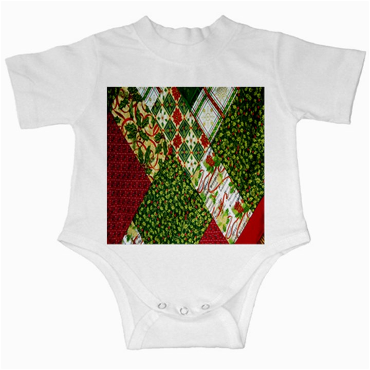 Christmas Quilt Background Infant Creepers