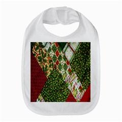Christmas Quilt Background Bib