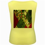 Christmas Quilt Background Women s Yellow Tank Top Back