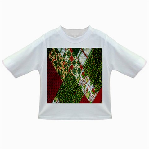 Christmas Quilt Background Infant/Toddler T-Shirts