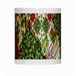 Christmas Quilt Background White Mugs Center