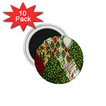 Christmas Quilt Background 1.75  Magnets (10 pack)  Front