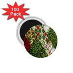 Christmas Quilt Background 1.75  Magnets (100 pack)  Front