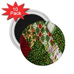 Christmas Quilt Background 2.25  Magnets (10 pack)  Front