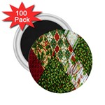Christmas Quilt Background 2.25  Magnets (100 pack)  Front