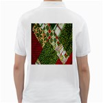 Christmas Quilt Background Golf Shirts Back