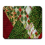 Christmas Quilt Background Large Mousepads Front