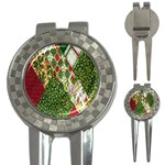 Christmas Quilt Background 3-in-1 Golf Divots Front