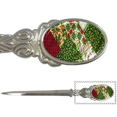 Christmas Quilt Background Letter Openers