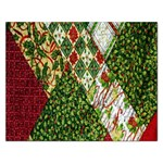 Christmas Quilt Background Rectangular Jigsaw Puzzl Front