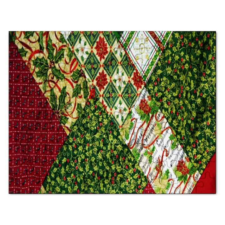 Christmas Quilt Background Rectangular Jigsaw Puzzl
