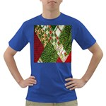 Christmas Quilt Background Dark T-Shirt Front