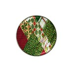 Christmas Quilt Background Hat Clip Ball Marker (4 pack) Front