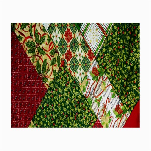 Christmas Quilt Background Small Glasses Cloth