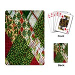 Christmas Quilt Background Playing Card Back
