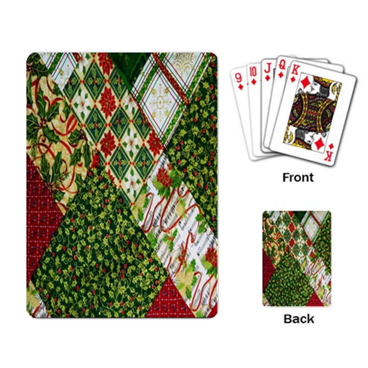 Christmas Quilt Background Playing Card